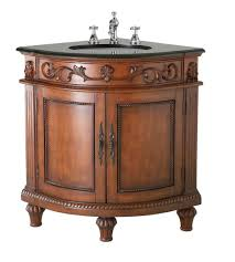 Antique Brass Kitchen Hardware by Dark Oak Single Basin Corner Bathroom Vanity With Antique Brass