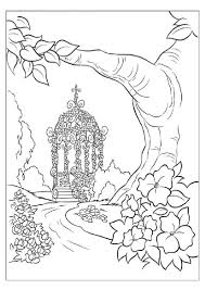 coloring pages of magical place for cinderella coloring page for