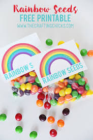 rainbow seeds free printable the crafting