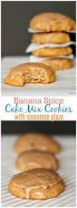 banana spice cake mix cookies with cinnamon glaze recipe