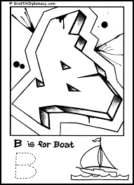 g is for graffiti alphabet coloring book free coloring page