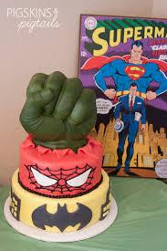 superhero birthday pigskins u0026 pigtails