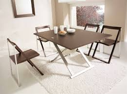 rectangle brown wooden table with white wooden folding legs