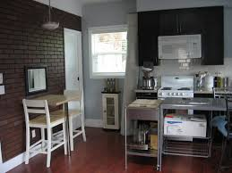 espresso kitchen island kitchen brick exposed wall panels also stainless kitchen island