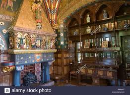 wales cardiff castle winter smoking room the buffet and fireplace