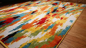 Stain Resistant Rugs Radiance Ant6001 6x8 Art Collection Contemporary Modern Splat Wool