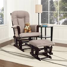 Baby Glider And Ottoman Set Dorel Living Baby Relax Glider Rocker And Ottoman Espresso Gray