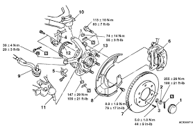 how do i replace the front left wheel bearing assembly