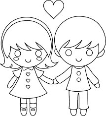 flower valentine coloring page kids valentine coloring pages of