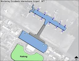 monterrey escobedo mty airport terminal map