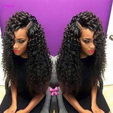 curl in front of hair pic 7a brazilian bouncy curl wig bleached knots lace front wigs