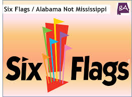 Six Flags Logo Hey Six Flags Alabama Does Not Have A Mississippi Outline U2013 Geek