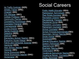 si e social air personality based careers ppt
