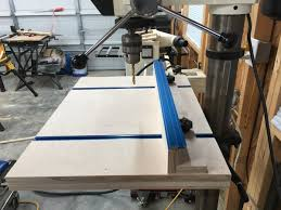 Diy Drill Press Table by New Homemade Drill Press Table Workshop Furniture Projects Forums