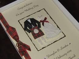 wedding card for groom personalised handmade scottish wedding card groom boxed