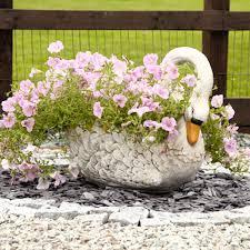 ornamental swan garden planter planters