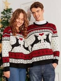 two person reindeer sweater colormix sweaters one size