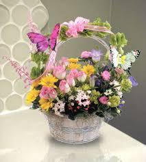 basket arrangements butterfly basket floral arrangements woyshners flower shop