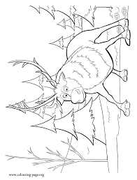 look it seems that sven is scared have fun coloring this amazing