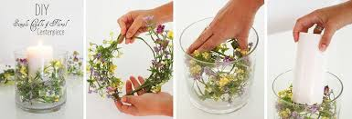 Candle Centerpiece Wedding Easy Diy Flower U0026 Candle Centerpiece U2013 Afloral Com
