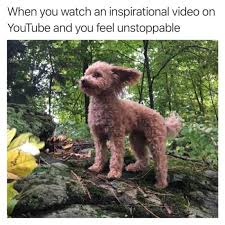 Unstoppable Meme - when you watch an inspirational video on youtube and you feel