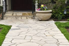 Dry Laid Flagstone Patio How To Install Flagstone For Walkways Diy True Value Projects