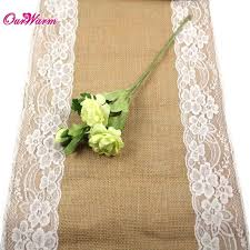 Burlap Lace Table Runner 10pcs Jute Burlap Lace Hessian Table Runner 30cm X 275cm Vintage
