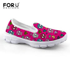 Most Comfortable Loafers Brand Women Flat Shoes Cartoon Skull Pattern Mother Nurse Loafers