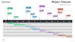 Simple Project Plan Template Excel Gantt Charts And Project Timelines For Powerpoint
