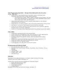 Cnc Programmer Resume Sample by Resume Cnc Programmer Resume Surprising Cnc Machinist Resume 12