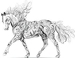 coloring sheets of a horse spirit horse coloring pages