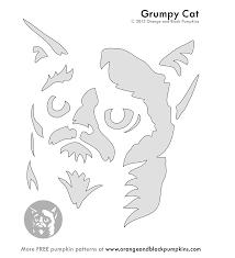 Meme Pumpkin Stencil - grumpy cat pattern halloween pinterest pumpkin carving