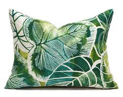 Clearance Decorative Pillows Green Leaf Pillow Etsy