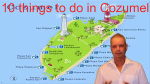 Cozumel Mexico Map by 10 Things To Do In Cozumel Youtube