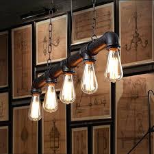 industrial dining table lighting pendant room look light fixtures