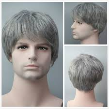 gray hair pieces for american fashion full lace natural men wig short straight grey hairpieces