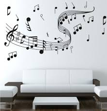 Home Studio Decor Wall Ideas Note Music Wall Sticker 0855 Music Decal Wall Arts