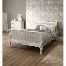 Bedroom Decorating Ideas With Sleigh Bed Bedroom White King Sleigh Bed Terracotta Tile Decor Desk Lamps