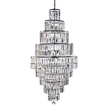 Next Pendant Light 13 Light Chrome Chandelier With Clear Bevelled Glass Trimmings As