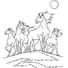à imprimer animaux cheval numéro 3734