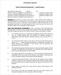 general partnership agreement 9 free pdf word documents