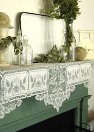 Heritage Lace Shower Curtains by Heirloom Mantle Scarf Heritage Lace