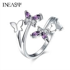 rings butterfly images Butterfly rings women elegant best gift beauty rings adjustable jpg