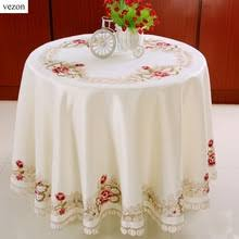 Round Kitchen Table Cloth by Popular Round Dining Table Cover 220cm Buy Cheap Round Dining