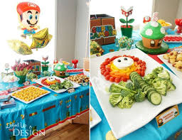 Kids Party Food Ideas Buffet by Super Mario Bros Birthday Party Ideas Super Mario Bros Mario