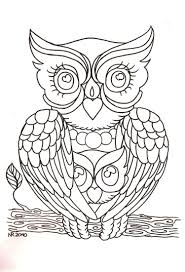 dessin hibou à imprimer et bricolage chouette pour enfants owl