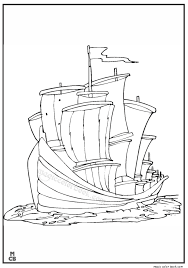 magic ship coloring pages