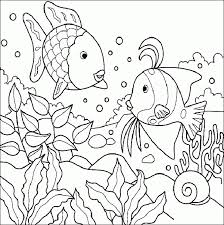 sea creature coloring pages fish