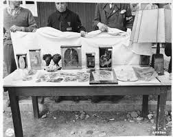 buchenwald atrocities including lampshades bear pit and human soap