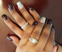 square nails with a thicker base due to thin nails love it yelp